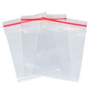 sacos plásticos transparentes com zíper